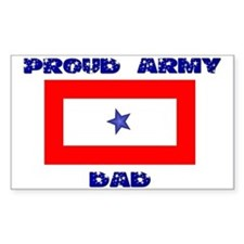 ARMY DAD Rectangle Sticker 10 pk)