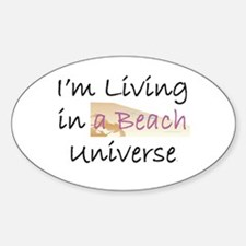 Beach Universe Oval Decal