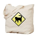 CAUTION! Cat Crossing Tote Bag