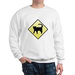 CAUTION! Cat Crossing Sweatshirt