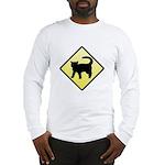 CAUTION! Cat Crossing Long Sleeve T-Shirt