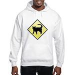 CAUTION! Cat Crossing Hooded Sweatshirt