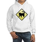 CAUTION! Cat Crossing Hooded Sweatshirt