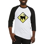CAUTION! Cat Crossing Baseball Jersey