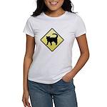 CAUTION! Cat Crossing Women's T-Shirt