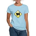 CAUTION! Cat Crossing Women's Light T-Shirt