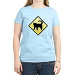CAUTION! Cat Crossing Women's Light T-Shirt