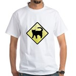 CAUTION! Cat Crossing White T-Shirt