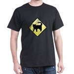 CAUTION! Cat Crossing Dark T-Shirt