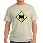 CAUTION! Cat Crossing Light T-Shirt