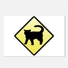 CAUTION! Cat Crossing Postcards (Package of 8)