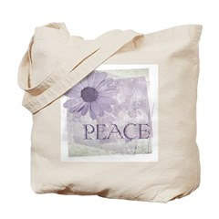 Vintage Peace and a Daisy Tote Bag