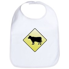 CAUTION! Cattle Crossing Bib