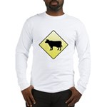 CAUTION! Cattle Crossing Long Sleeve T-Shirt