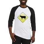 CAUTION! Cattle Crossing Baseball Jersey