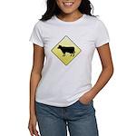CAUTION! Cattle Crossing Women's T-Shirt