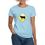 CAUTION! Cattle Crossing Women's Light T-Shirt