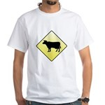CAUTION! Cattle Crossing White T-Shirt