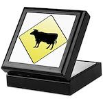 CAUTION! Cattle Crossing Keepsake Box