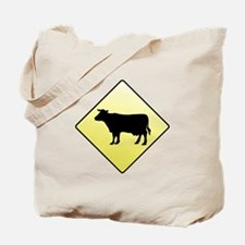CAUTION! Cattle Crossing Tote Bag