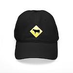 CAUTION! Cattle Crossing Black Cap
