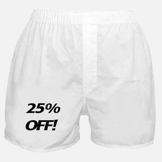 25 Percent Off Boxer Shorts