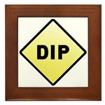 CAUTION! DIP Framed Tile