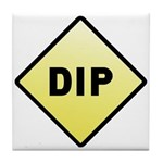 CAUTION! DIP Tile Coaster