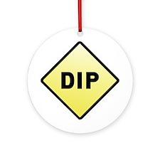 CAUTION! DIP Ornament (Round)