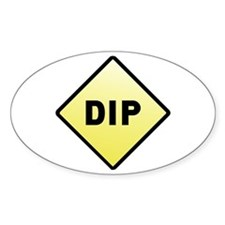 CAUTION! DIP Oval Decal