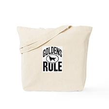 Golden Retrievers Rule Tote Bag