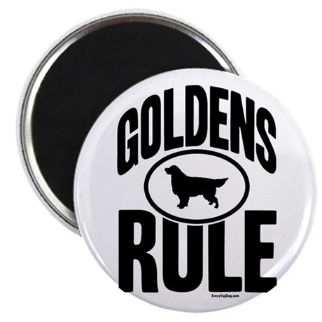 Golden Retrievers Rule Magnet