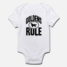 Golden Retrievers Rule Infant Bodysuit