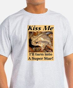 Kiss A Super Star Ash Grey T-Shirt
