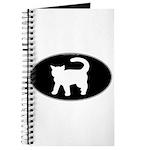 Cat B&W Oval Journal