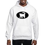 Cat B&W Oval Hooded Sweatshirt
