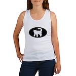 Cat B&W Oval Women's Tank Top