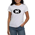 Cat B&W Oval Women's T-Shirt