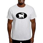 Cat B&W Oval Light T-Shirt
