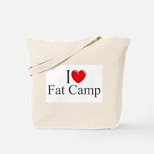 """I Love (Heart) Fat Camp"" Tote Bag"