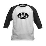 Cycling Oval B&W Kids Baseball Jersey