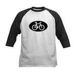 Cycling Oval B&W Kids Baseball Jersey