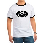 Cycling Oval B&W Ringer T