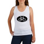 Cycling Oval B&W Women's Tank Top