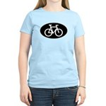 Cycling Oval B&W Women's Light T-Shirt