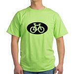 Cycling Oval B&W Green T-Shirt