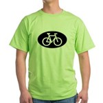 Cycling Oval B&W Green T-Shirt