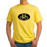 Cycling Oval B&W Yellow T-Shirt