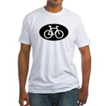 Cycling Oval B&W Fitted T-Shirt