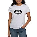 Cycling Oval B&W Women's T-Shirt